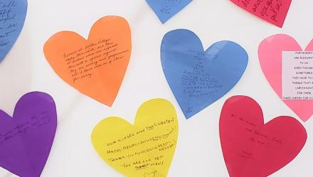 paper hearts for nurses week